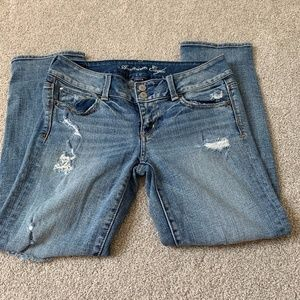 American Eagle Cropped Jeans Size 4